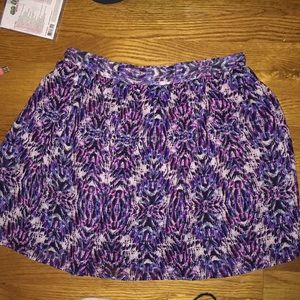multi colored skater skirt